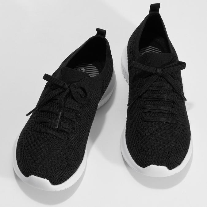 Černé dámské tenisky v pleteném stylu skechers, černá, 509-6105 - 16