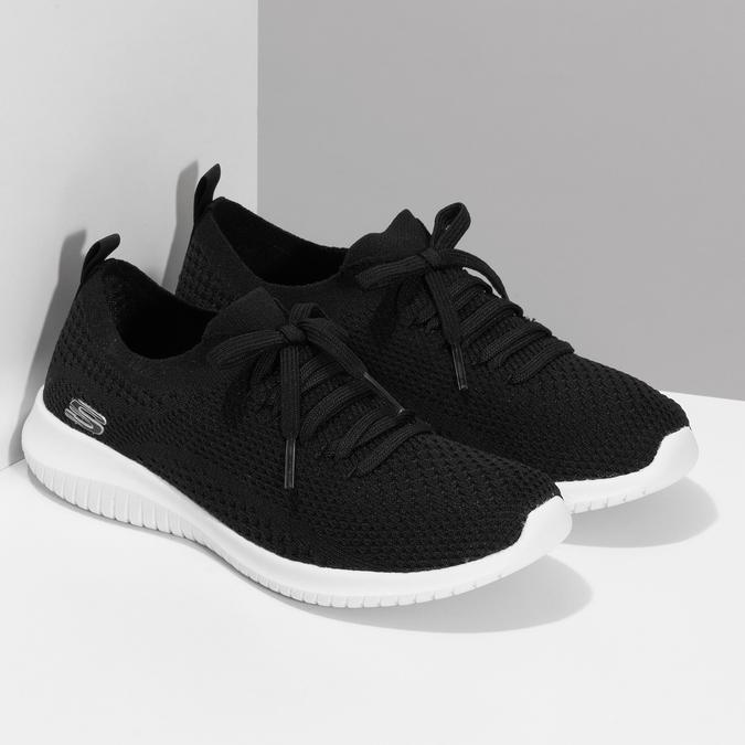 Černé dámské tenisky v pleteném stylu skechers, černá, 509-6105 - 26