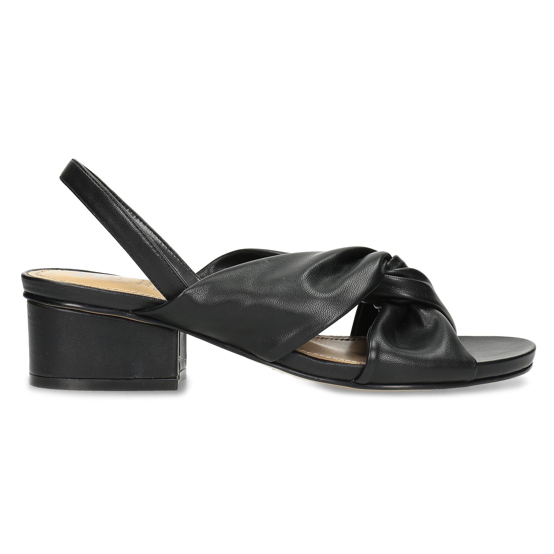 e91112162ead Insolia Černé dámské sandály na nízkém podpatku - Insolia