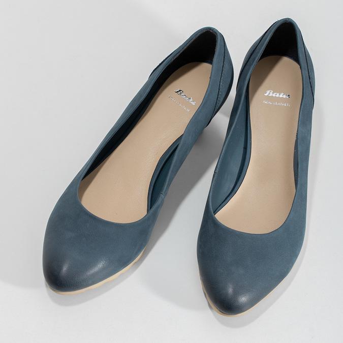 Tmavě modré dámské lodičky bata, modrá, 626-9652 - 16