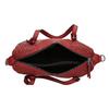 Červená dámská kabelka s perforací bata, červená, 961-5888 - 15