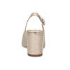 Béžové kožené lodičky s otevřenou špicí hogl, béžová, 668-8020 - 15
