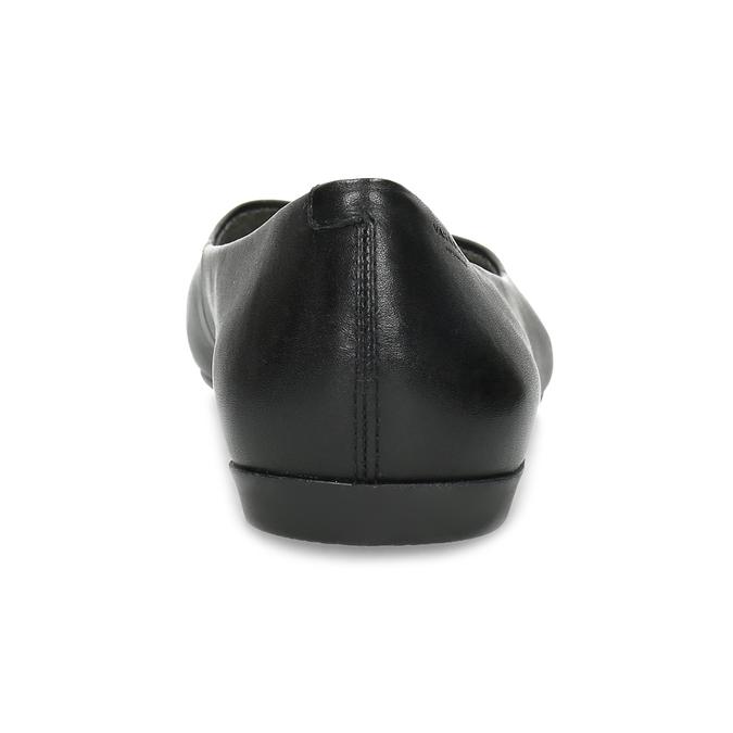 Černé kožené baleríny do špičky vagabond, černá, 524-6078 - 15