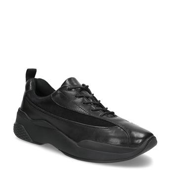 Černé dámské kožené tenisky vagabond, černá, 546-6059 - 13