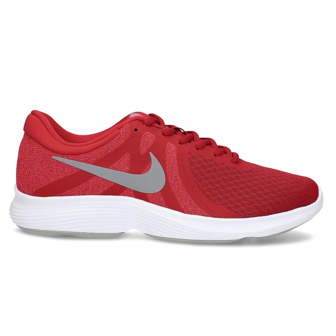 Červené pánské tenisky s bílou podešví nike, červená, 809-5100 - 19