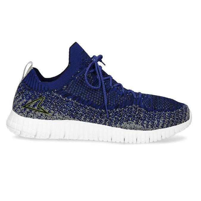Kotníčkové modré tenisky v pleteném stylu power, modrá, 809-9420 - 19