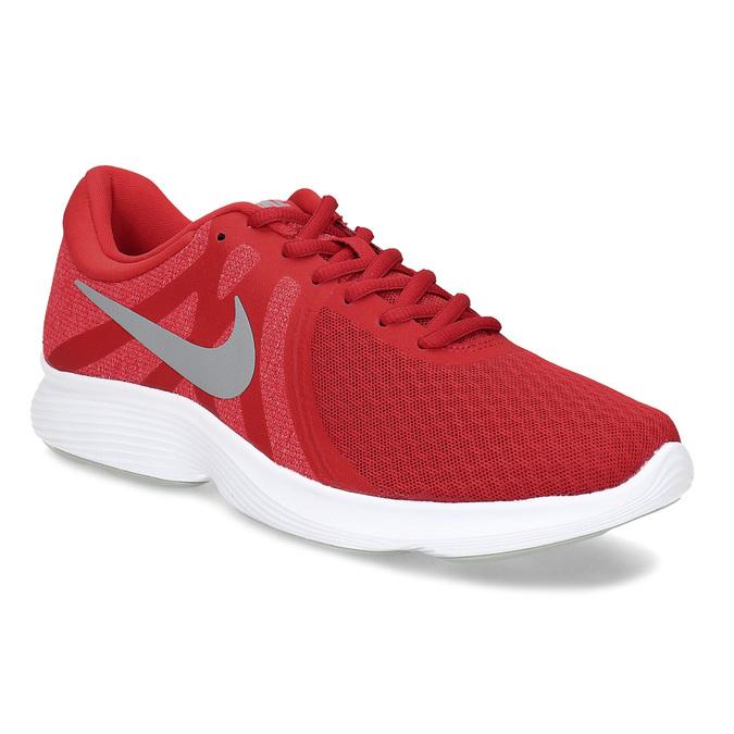Červené pánské tenisky s bílou podešví nike, červená, 809-5100 - 13
