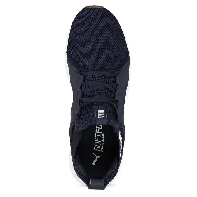 Modré pánské tenisky s bílými detaily puma, modrá, 809-9100 - 17