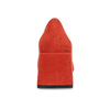 Červené dámské lodičky z broušené kůže bata, červená, 623-5647 - 15