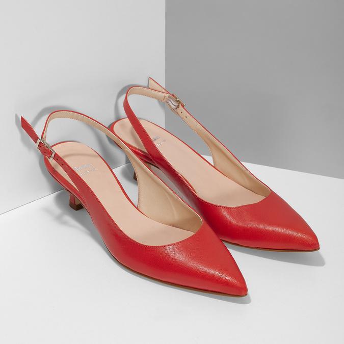 Červené lodičky do špičky bata, červená, 624-5655 - 26