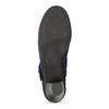 Tmavě modré lodičky z broušené kůže bata, modrá, 623-9646 - 18