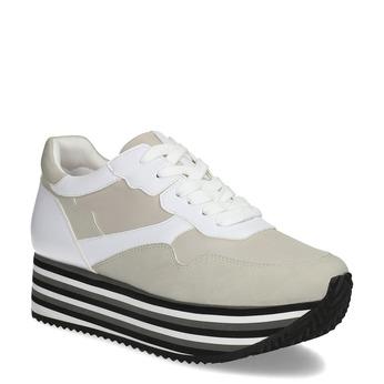 Dámské tenisky na flatformě šedé bata, béžová, 549-0605 - 13