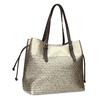 Zlatá dámská kabelka s perforací bata, zlatá, 961-8866 - 13