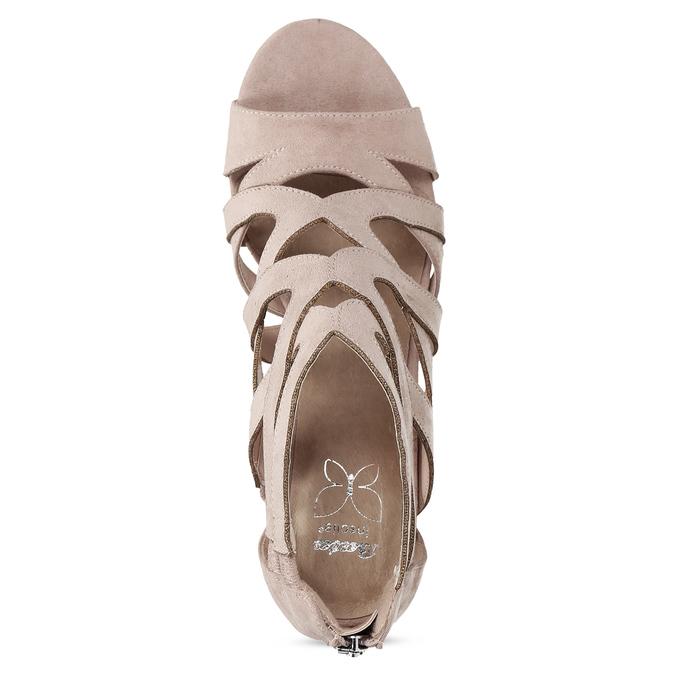Sandály na stabilním podpatku béžové insolia, béžová, 661-8611 - 17