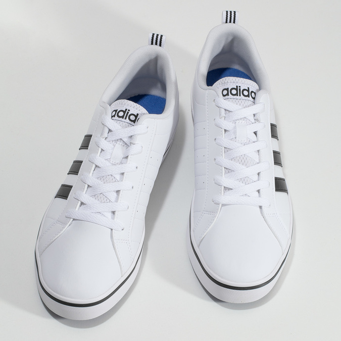 Ležérní pánské tenisky bílé adidas, bílá, 801-1136 - 16