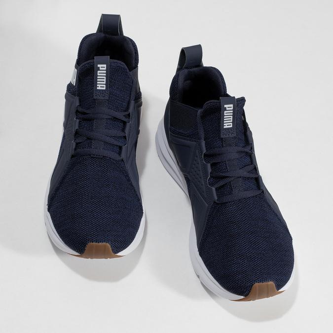 Modré pánské tenisky s bílými detaily puma, modrá, 809-9100 - 16