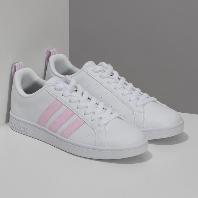 Bílé dámské tenisky s růžovými detaily adidas, bílá, 501-1139 - 26