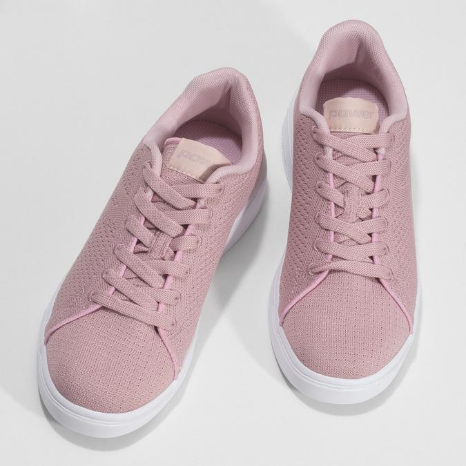 Růžové dámské ležérní tenisky power, růžová, 509-5119 - 16