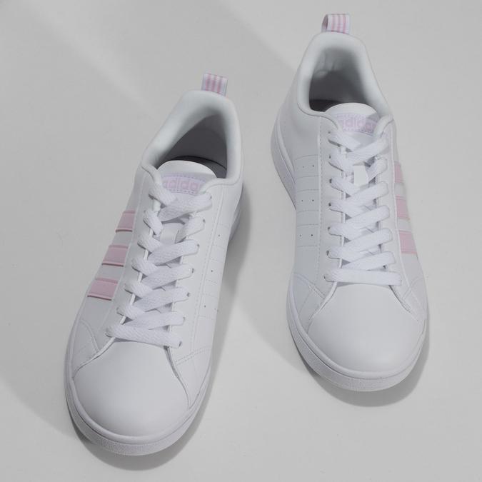 Bílé dámské tenisky s růžovými detaily adidas, bílá, 501-1139 - 16
