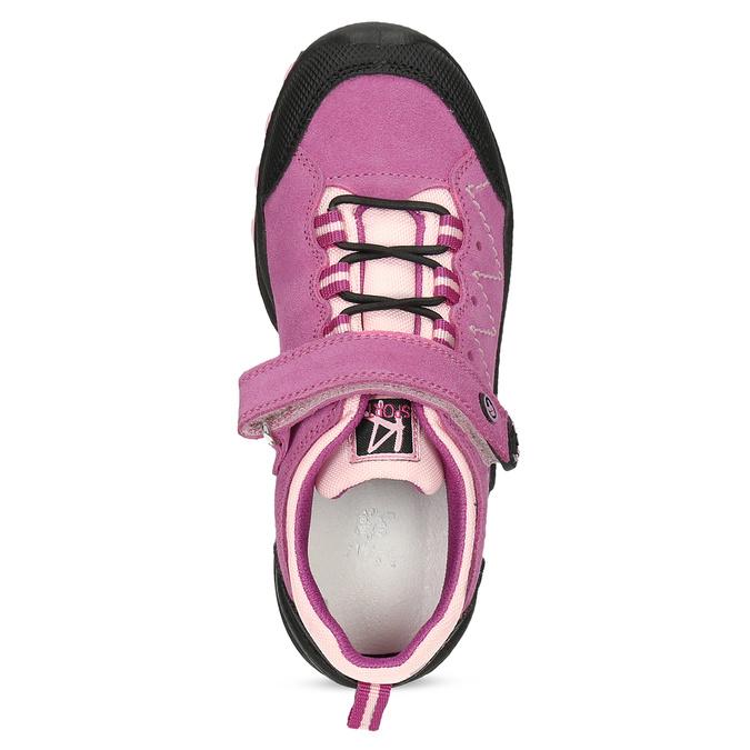 kožené dívčí tenisky v outdoorovém stylu mini-b, růžová, 423-5648 - 17