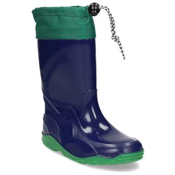 Zelené chlapecké holínky mini-b, modrá, 192-9640 - 13