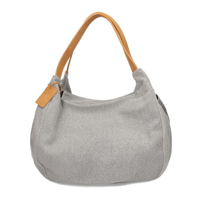 Šedá kabelka s hnědými detaily bata, šedá, 969-2868 - 26