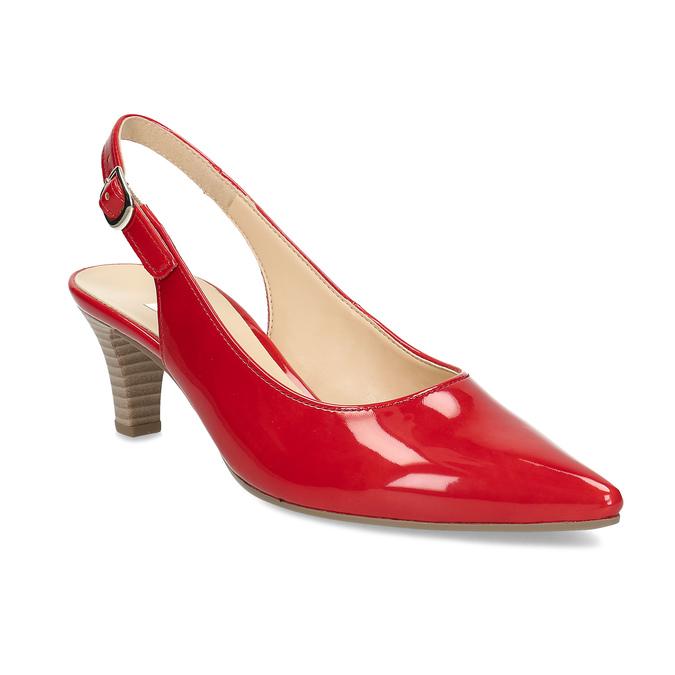 Dámské lodičky s volnou patou gabor, červená, 661-5630 - 13
