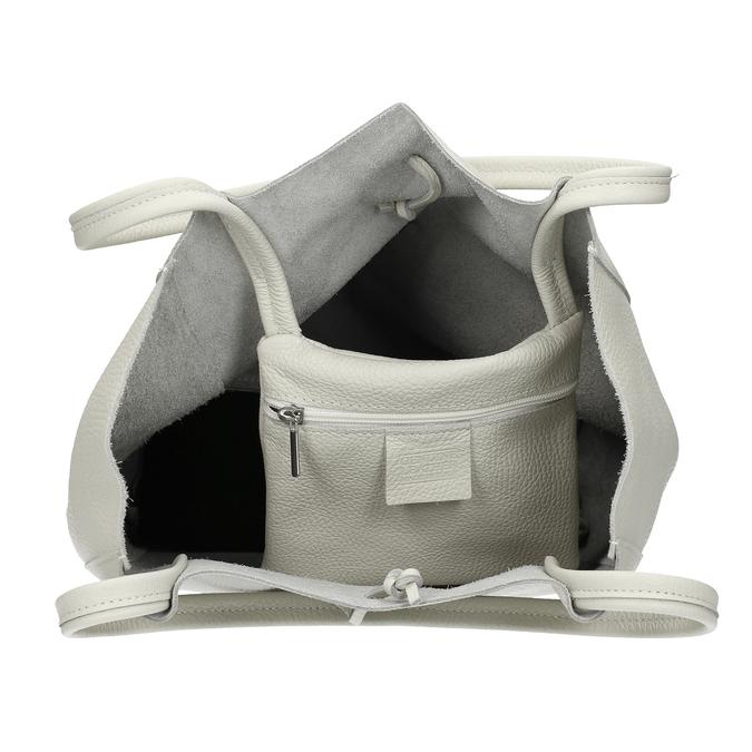 Kožená kabelka bata, béžová, 964-1162 - 15