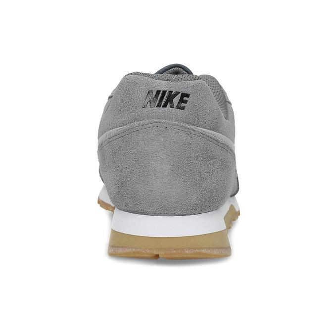 Pánské šedé tenisky z broušené kůže nike, šedá, 803-2166 - 15