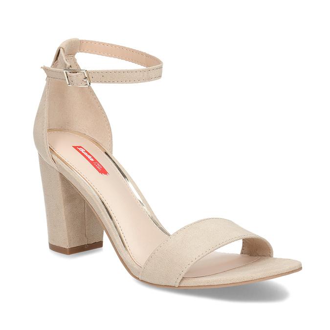 cbdf19b9f7a01 Béžové dámské sandály na stabilním podpatku bata-red-label, béžová, 769-