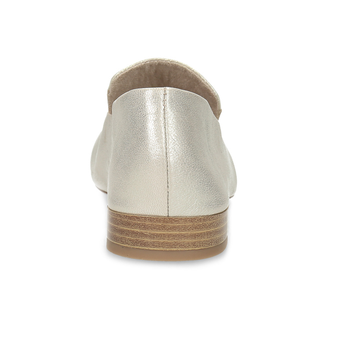 Dámské zlaté kožené mokasíny bata, zlatá, 518-8605 - 15