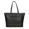 Černá kožená shopper bag bata, černá, 964-6701 - 16