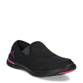 Sportovní dámské Slip-on power, černá, 509-6418 - 13