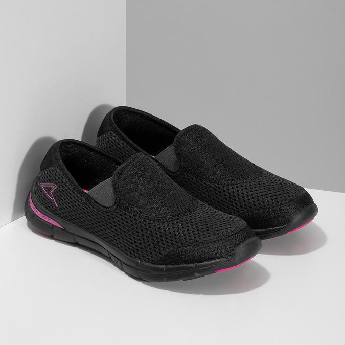 Sportovní dámské Slip-on power, černá, 509-6418 - 26