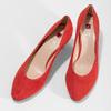 Červené lodičky z broušené kůže hogl, červená, 623-5007 - 16