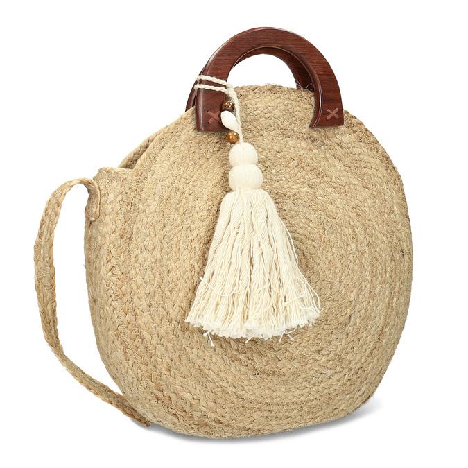 Dámská kabelka v přírodním designu bata, béžová, 969-8785 - 13