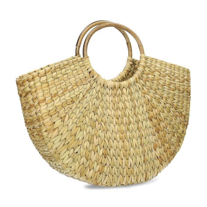 Proutěná dámská plážová kabelka bata, béžová, 969-8784 - 13