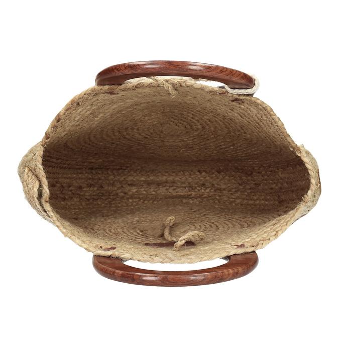 Dámská kabelka v přírodním designu bata, béžová, 969-8785 - 15