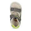 Šedé dětské sandály se zelenými detaily bubblegummers, šedá, 161-3614 - 17