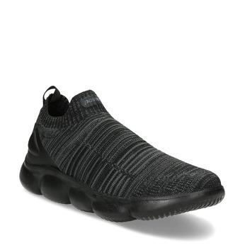 Černé pánské kotníčkové tenisky z úpletu power, černá, 809-6235 - 13