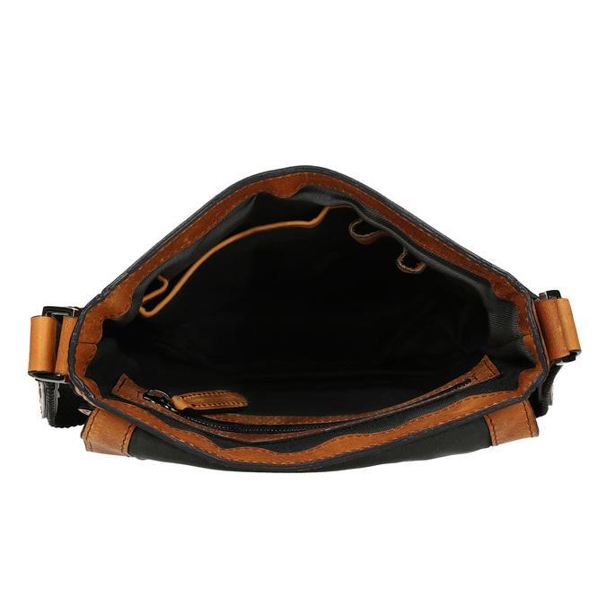 Pánská hnědá kožená kabela bata, hnědá, 964-3614 - 15