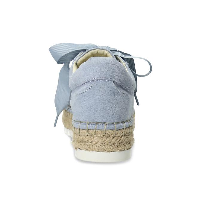 Modré dámské tenisky na přírodní flatformě bata, modrá, 559-9606 - 15