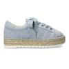 Modré dámské tenisky na přírodní flatformě bata, modrá, 559-9606 - 19