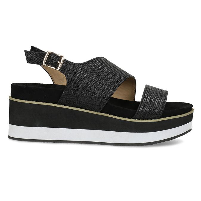 Černé dámské sandály na platformě bata, černá, 561-6631 - 19