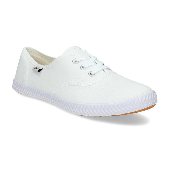 Dámské bílé ležérní tenisky tomy-takkies, bílá, 589-1385 - 13