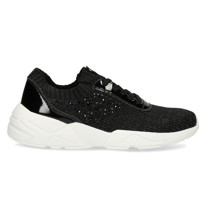 Černé dámské tenisky z úpletu bata-light, černá, 549-6615 - 19