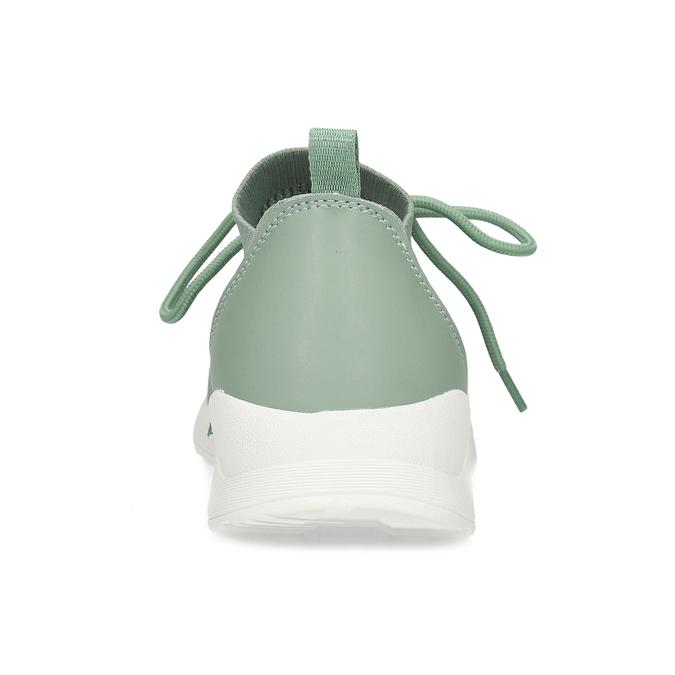 Zelené dámské tenisky z úpletu bata-light, zelená, 549-7606 - 15