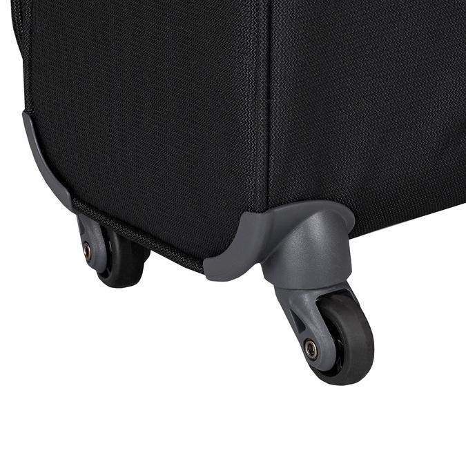 Černý kvalitní textilní kufr samsonite, černá, 960-6037 - 15