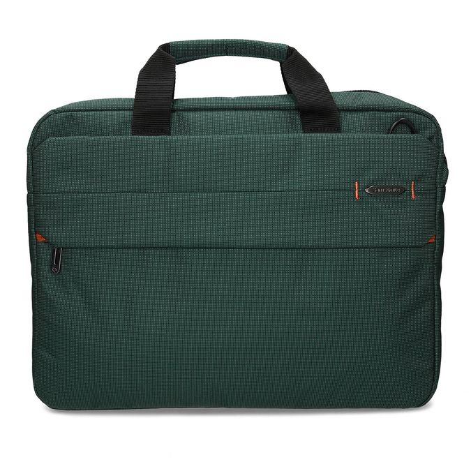 Zelená cestovní taška s popruhem samsonite, zelená, 960-7068 - 26
