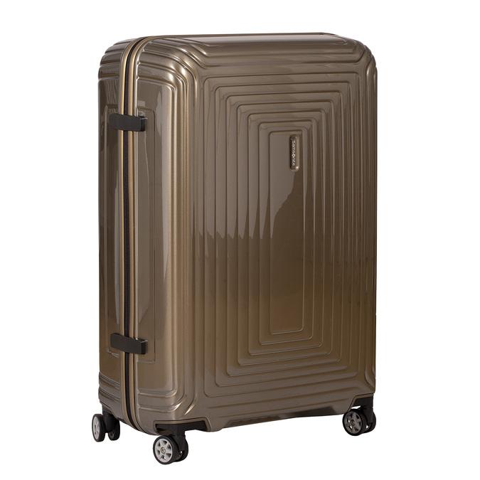 Cestovní zlatý skořepinový kufr samsonite, zlatá, 960-8023 - 13